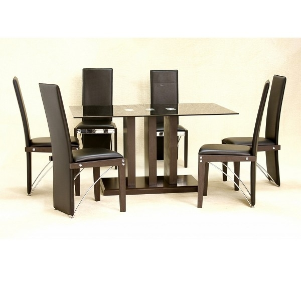 Cheap Heartlands Troy Large Glass Dining Table Set & 6 Chairs For For Cheap Glass Dining Tables And 6 Chairs (Image 14 of 25)