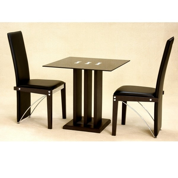 Cheap Heartlands Troy Small Glass Dining Table Set & 2 Chairs For Intended For Dining Tables And 2 Chairs (Image 5 of 25)