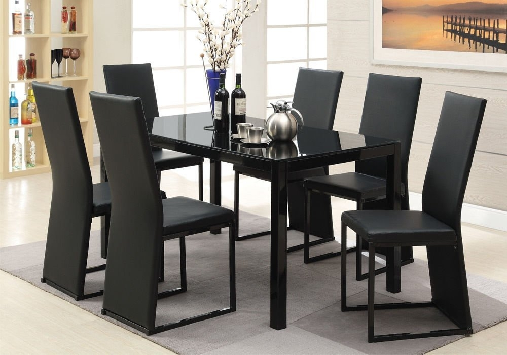 Cheap Iron Glass Dining Table, Find Iron Glass Dining Table Deals On With Regard To Delfina 7 Piece Dining Sets (Image 5 of 25)