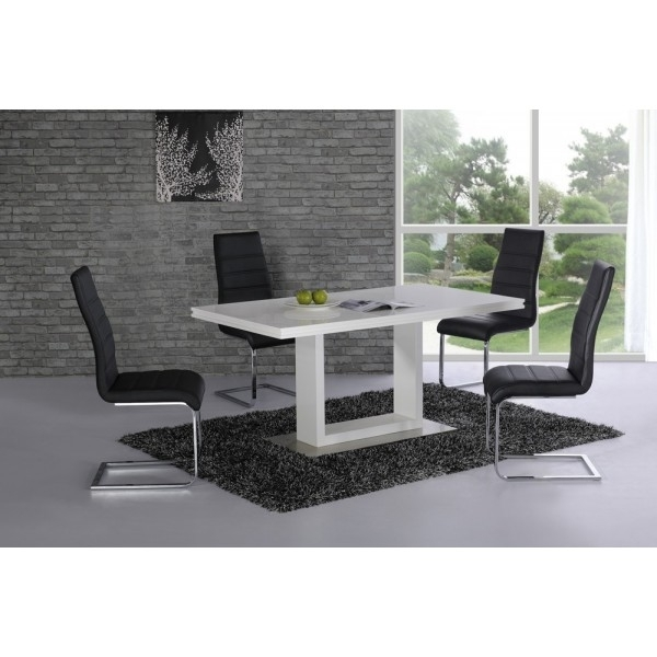 Cheap Space High Gloss Contemporary Dining Table For Sale For Alcora Dining Chairs (View 18 of 25)
