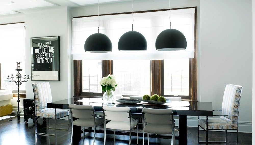 Cheap To Chic: Black Pendant Lights! (Take Two | Home | Kitchen pertaining to Dining Lights Above Dining Tables