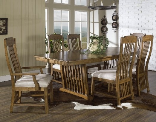 Cheap Trestle Table And Chairs, Find Trestle Table And Chairs Deals Inside Craftsman 7 Piece Rectangle Extension Dining Sets With Arm & Side Chairs (View 24 of 25)