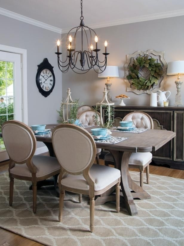Check Out This French Country Style Dining Room From Hgtv's Fixer For French Country Dining Tables (View 8 of 25)