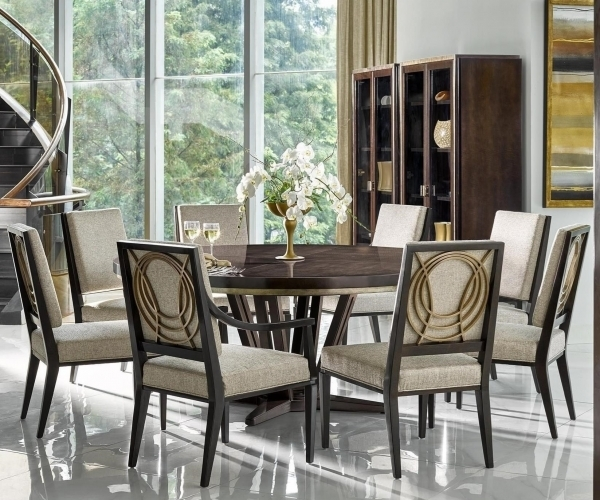 Cheery Caira Piece Extension Set Back Chairs Caira Piece Extension Inside Chapleau Ii 9 Piece Extension Dining Tables With Side Chairs (Image 7 of 25)