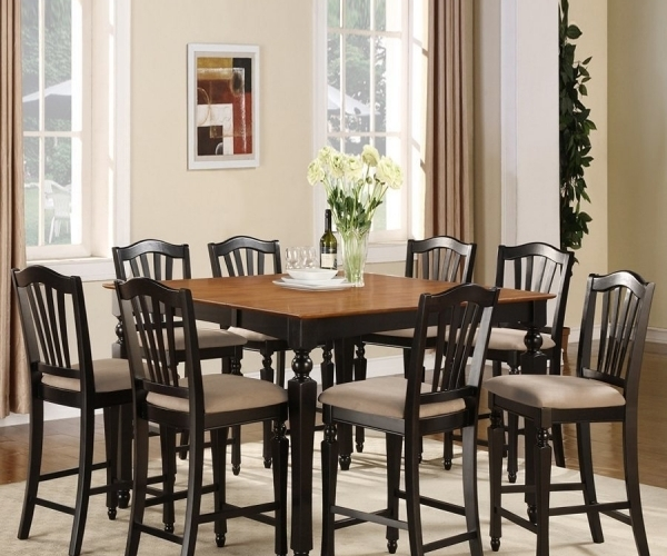 Cheery Caira Piece Extension Set Back Chairs Caira Piece Extension Pertaining To Chapleau Ii 9 Piece Extension Dining Table Sets (Image 11 of 25)