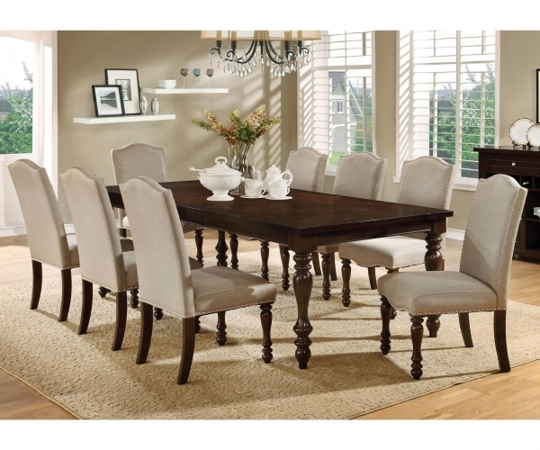 Cheery Caira Piece Extension Set Back Chairs Caira Piece Extension With Regard To Chapleau Ii 9 Piece Extension Dining Table Sets (Image 13 of 25)