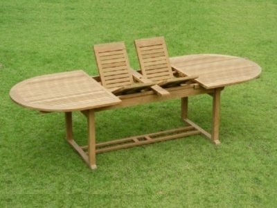 Chelmsford Double Extension Table – Atlanta Teak Furniture Pertaining To Helms Round Dining Tables (View 24 of 25)