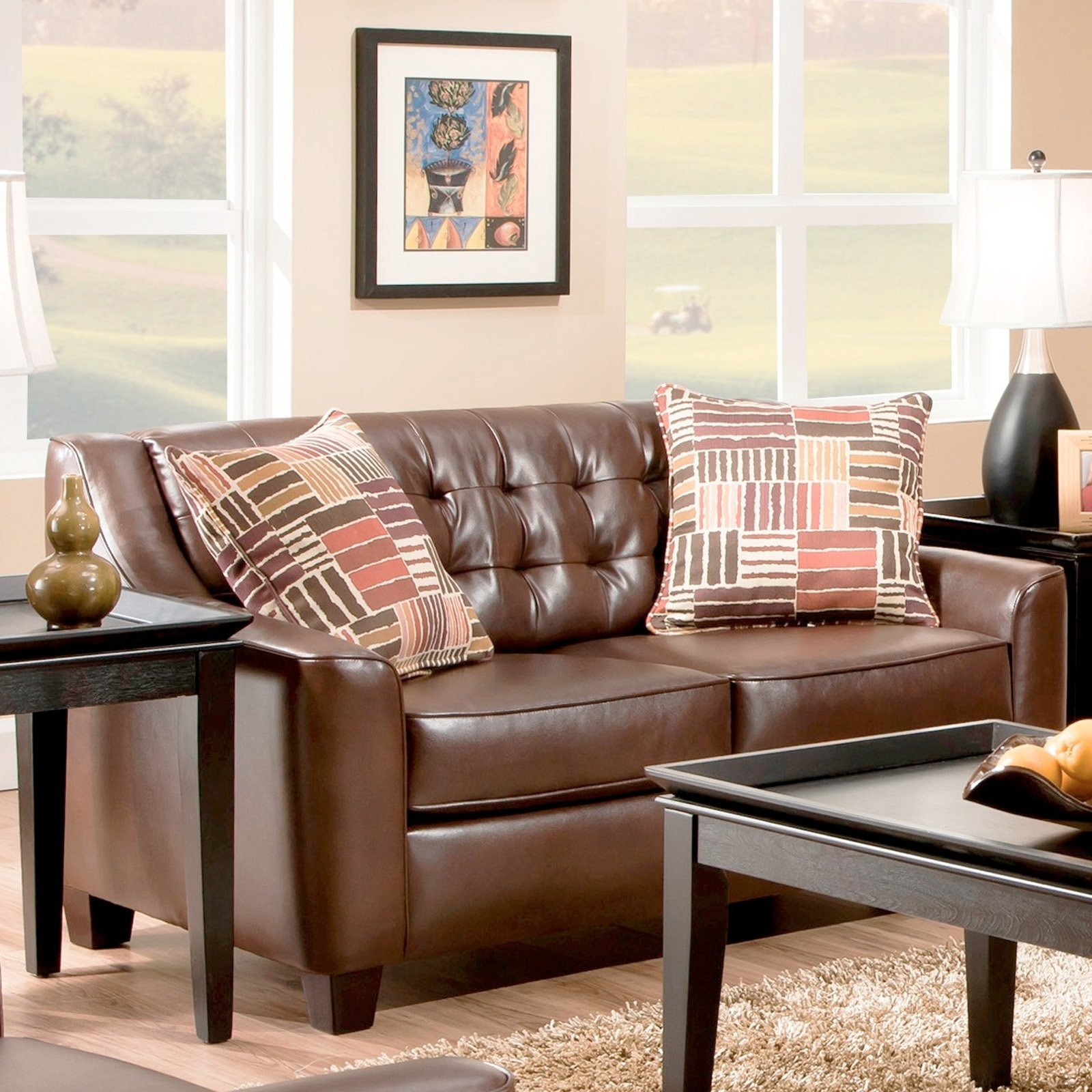 Chelsea Home Furniture Josephine Loveseat – Walmart Within Josephine 2 Piece Sectionals With Raf Sofa (Image 4 of 25)