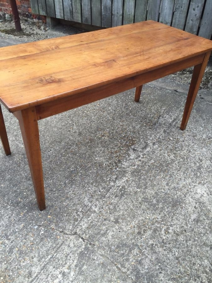 Cherry Antique French Farmhouse Table , Antique Cherry Dining Table Intended For French Farmhouse Dining Tables (Image 8 of 25)