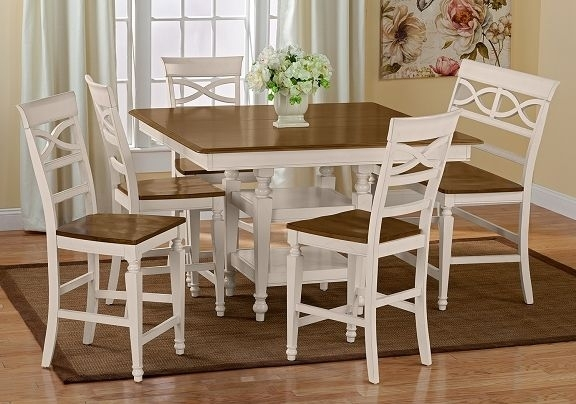Chesapeake Ii Dining Room Collection | Furniture Counter Height Regarding Candice Ii 5 Piece Round Dining Sets With Slat Back Side Chairs (Image 19 of 25)