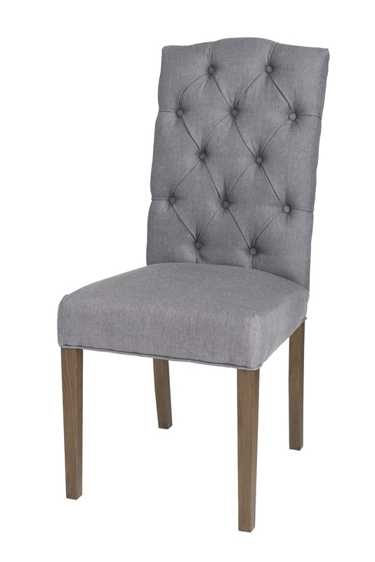 Chester Dining Chair – Dark Grey Twill (2/box) | Carlton | Seating Throughout Chester Dining Chairs (Image 5 of 25)