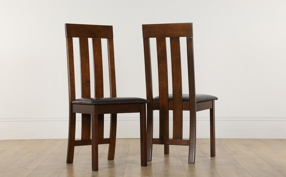 Chester Dining Chair Dark Wood (Brown Seat Pad) Only £ (Image 9 of 25)