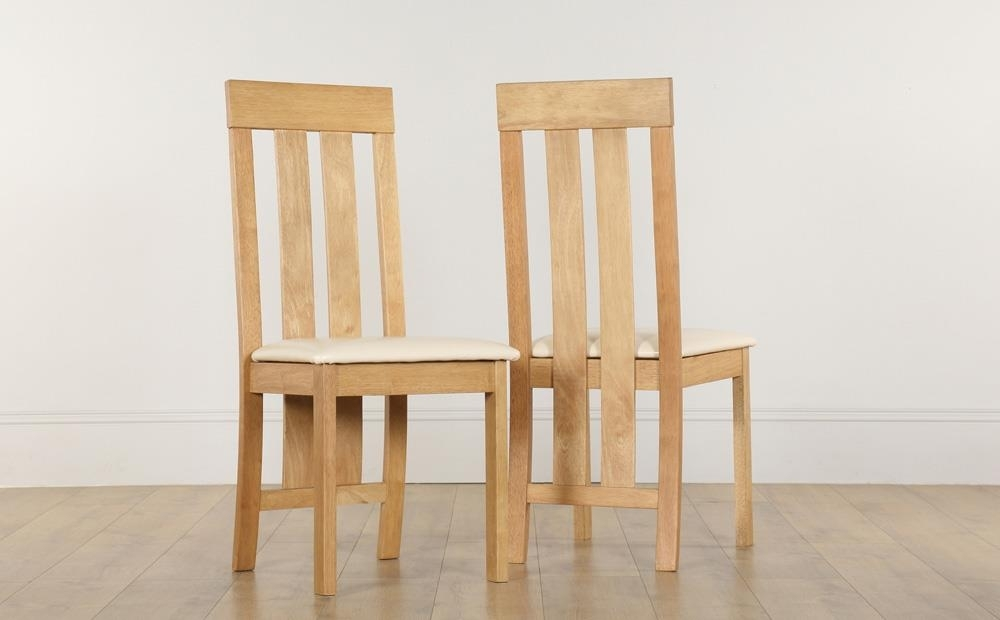 Chester Dining Chair Oak (Ivory Seat Pad) Only £ (Image 10 of 25)