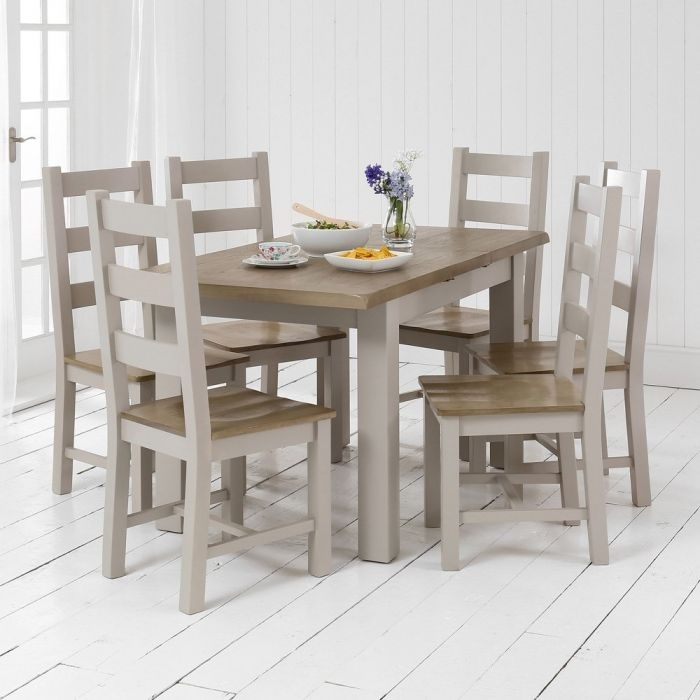 Chester Grey Painted Small Dining Table + 6 Dining Chairs Set   The Regarding Chester Dining Chairs (Image 16 of 25)