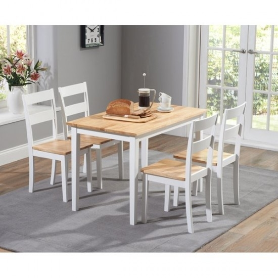 Chichester 150 Cm White Dining Table + 4 Chairs | Morale Home With Chichester Dining Tables (View 21 of 25)