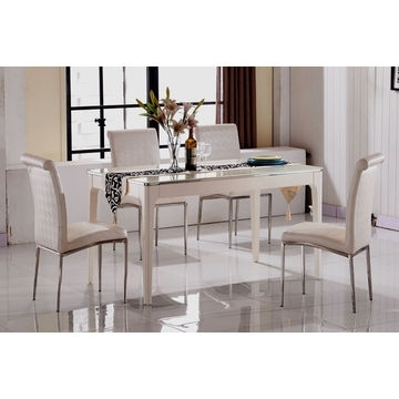 China Cheap Marble Top Dining Table Sets,6 Seater Dining Table Throughout 6 Seat Dining Table Sets (Image 14 of 25)