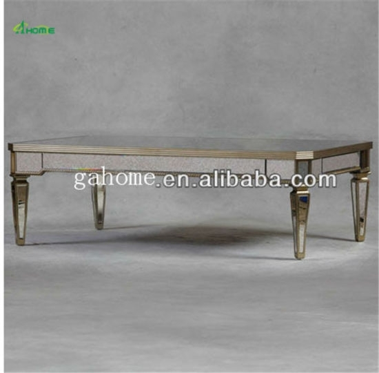China Glass Material Modern Mirrored Dining Table – China Dining Throughout Mirrored Dining Tables (View 19 of 25)
