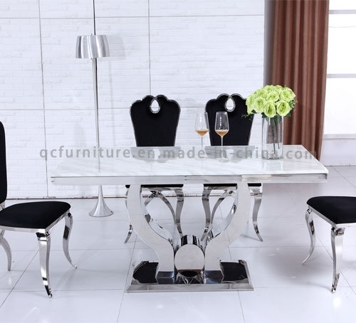 China Modern Big Size 10 Seater Dining Room Table White Marble Inside 10 Seater Dining Tables And Chairs (Image 15 of 25)