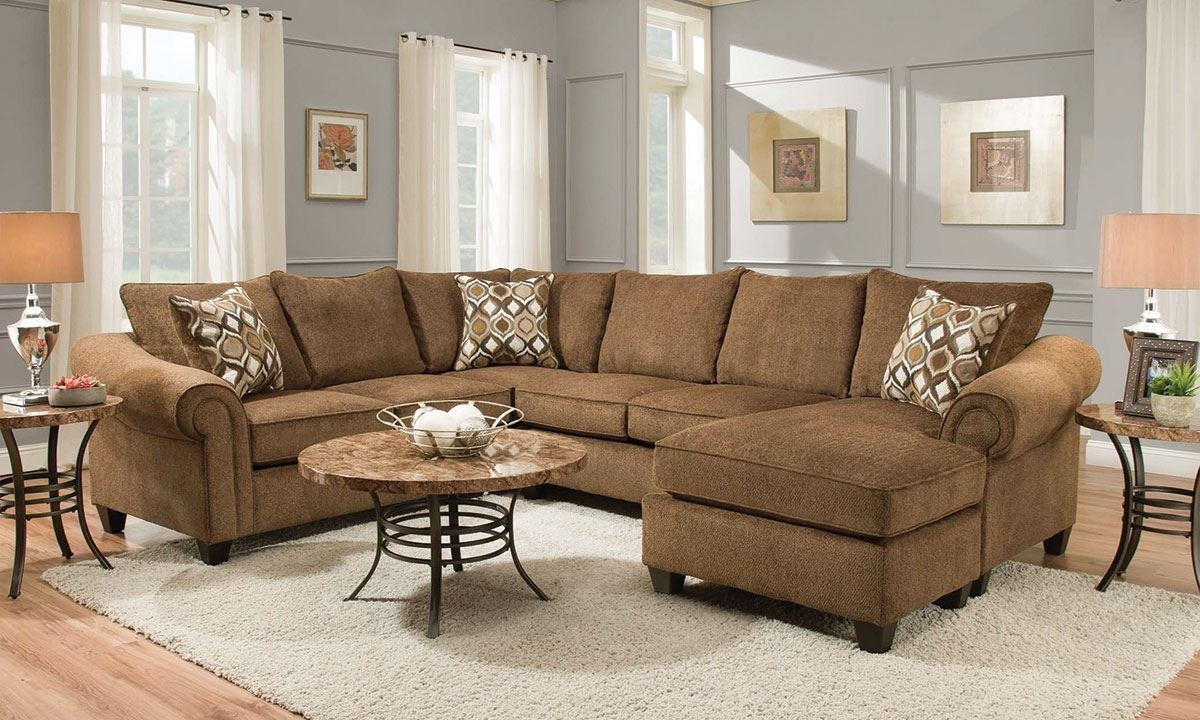Chocolate Roll Arm Sectional With Reversible Chaise | The Dump Luxe With Regard To Norfolk Chocolate 6 Piece Sectionals (View 9 of 25)