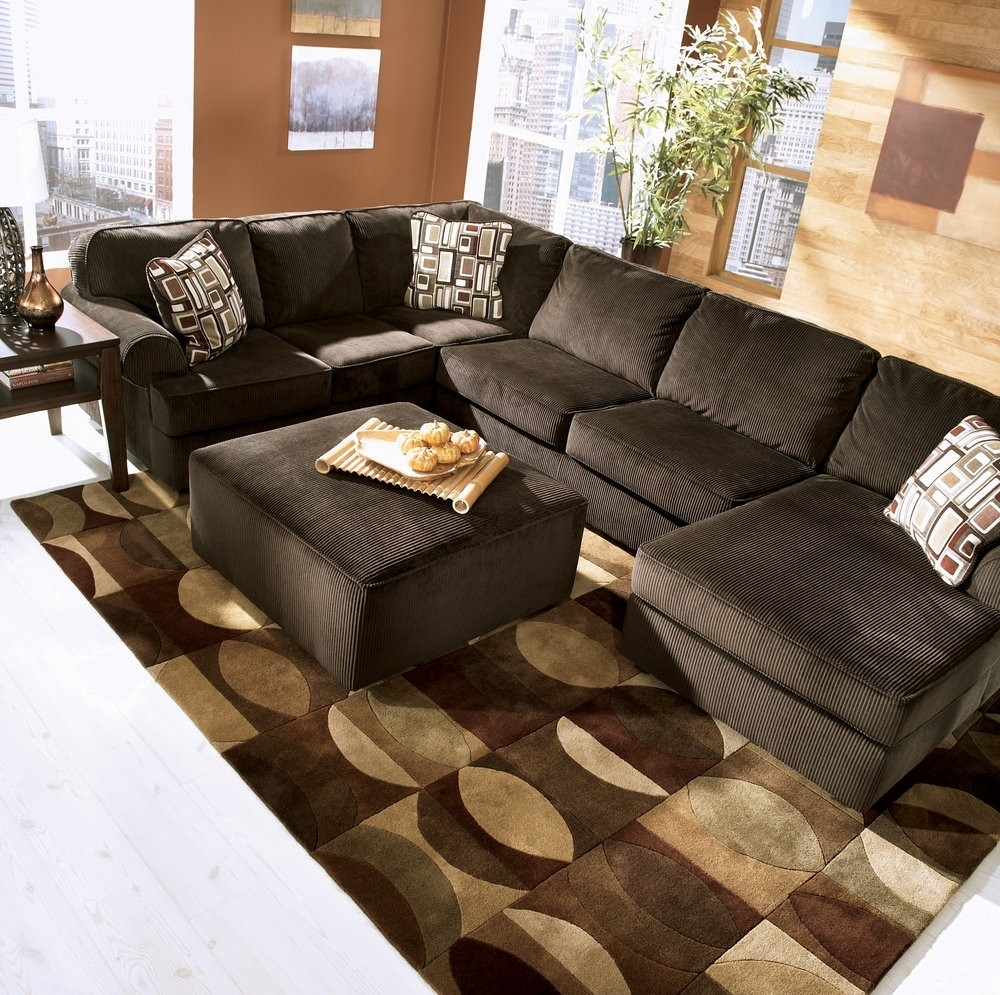 Chocolate Sectional Sofa Set With Chaise | Baci Living Room In Norfolk Chocolate 3 Piece Sectionals With Raf Chaise (Image 7 of 33)