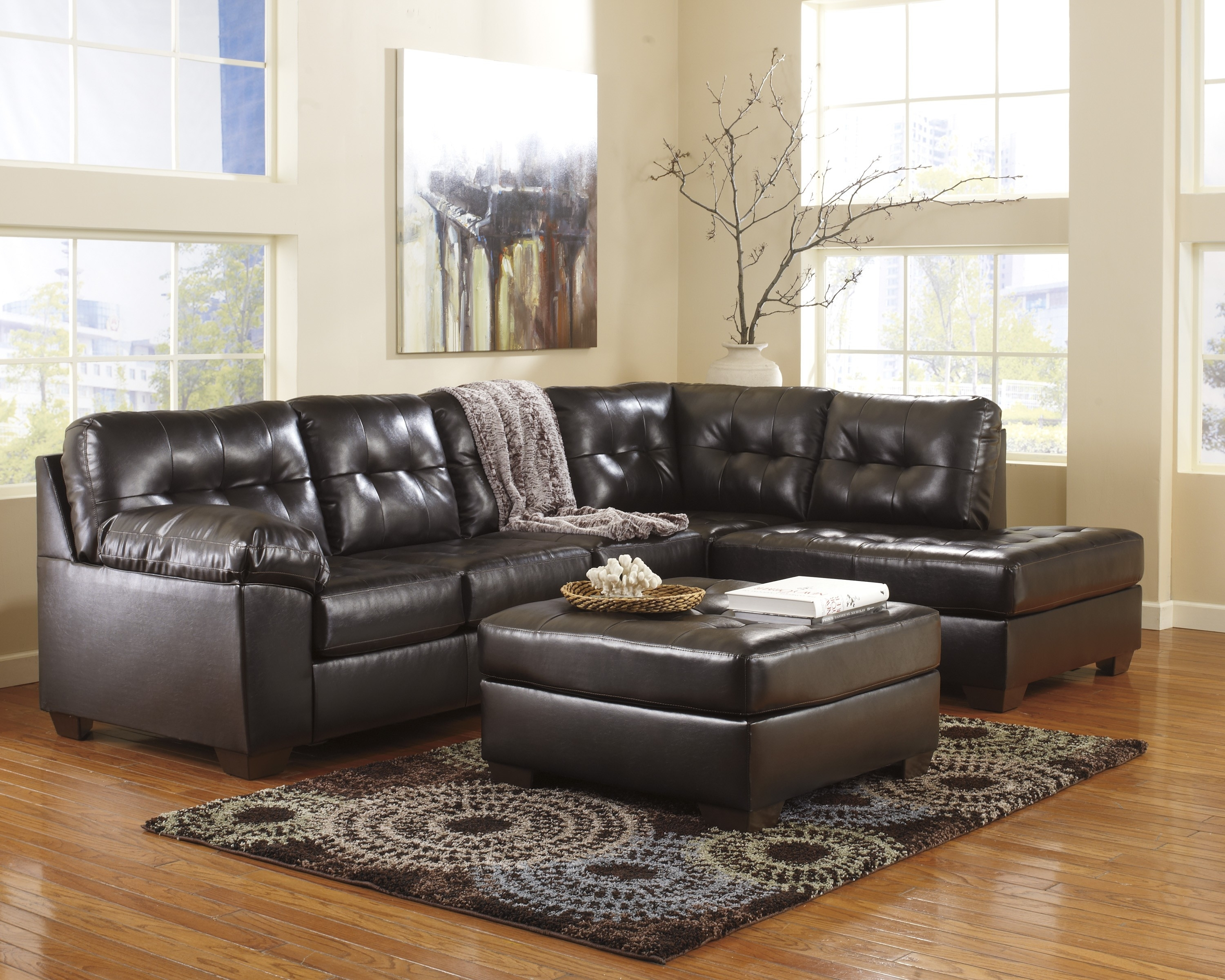Chocolate Sectional Sofa Set With Chaise | Baci Living Room Pertaining To Norfolk Chocolate 6 Piece Sectionals With Laf Chaise (Image 3 of 25)