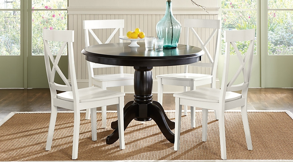 Choosing A Round Dining Table And Chairs Which Match – Home Decor Ideas Within Caira Black Round Dining Tables (Image 10 of 25)