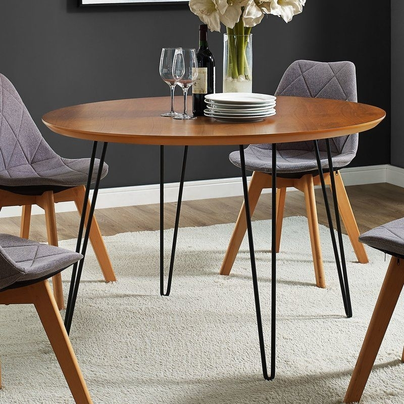 Chrisman Hairpin Dining Table | Pinterest Intended For Macie Round Dining Tables (Image 6 of 25)