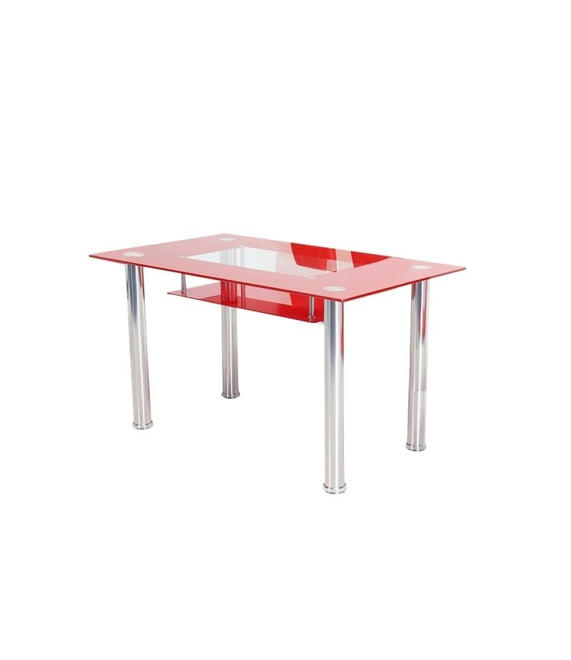 Christie Clear/red Dining Table With Mayfair Dining Chair With Mayfair Dining Tables (Image 7 of 25)