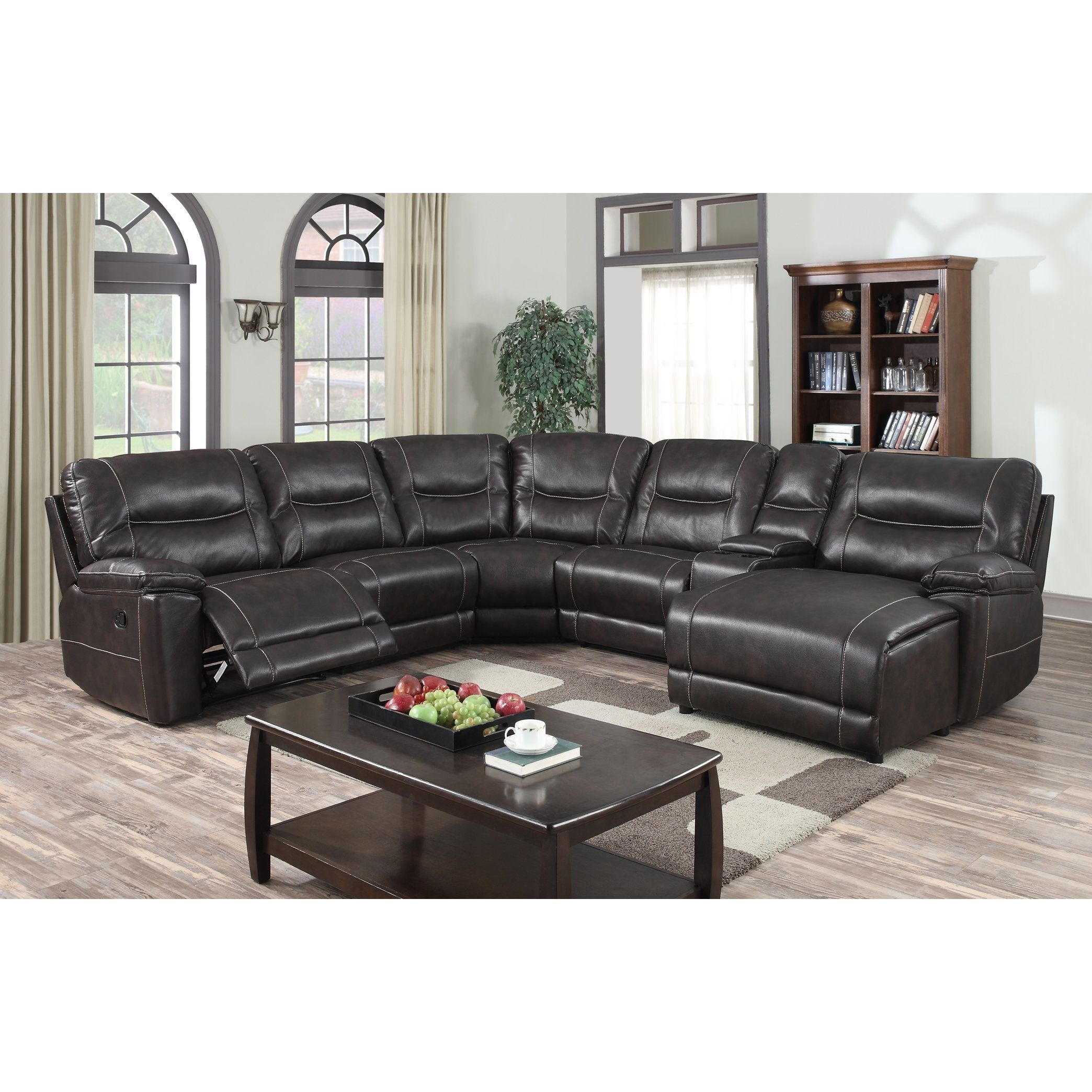 Christopher Reclining Sectional Collection Throughout Denali Charcoal Grey 6 Piece Reclining Sectionals With 2 Power Headrests (Image 10 of 25)