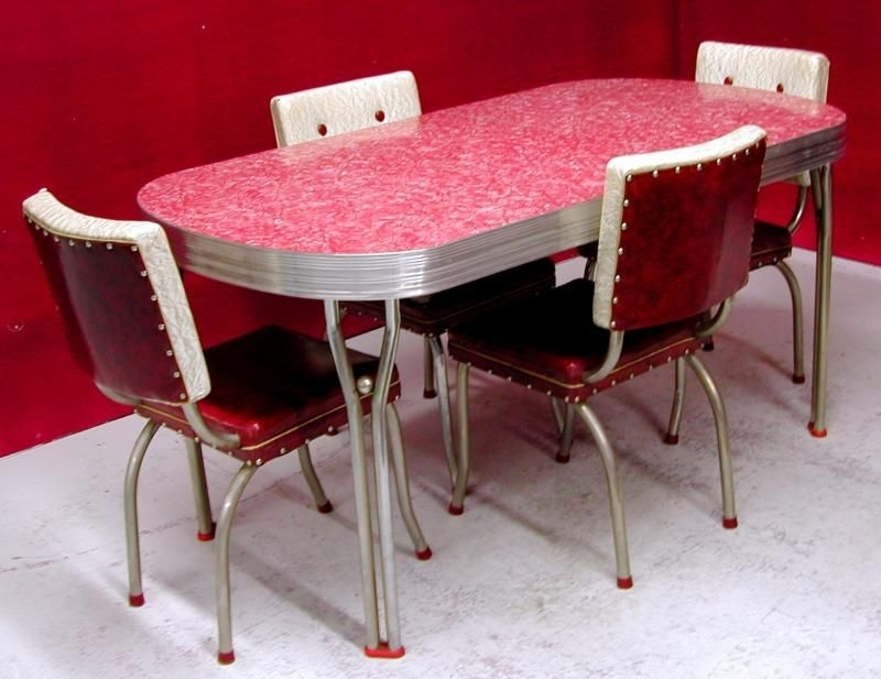 Chrome And Formica Dining Sets | 1950 S Ca 1950S Dining Chairs High With Retro Dining Tables (Image 4 of 25)