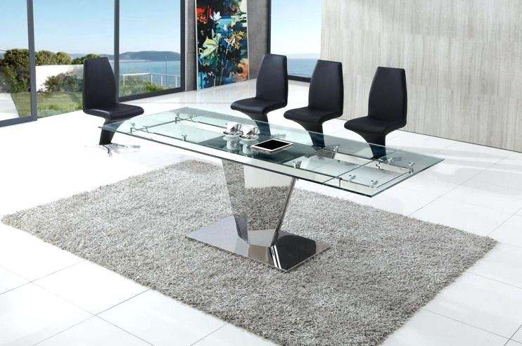 Chrome And Glass Dining Table – Bienmaigrir For Chrome Glass Dining Tables (Image 7 of 25)