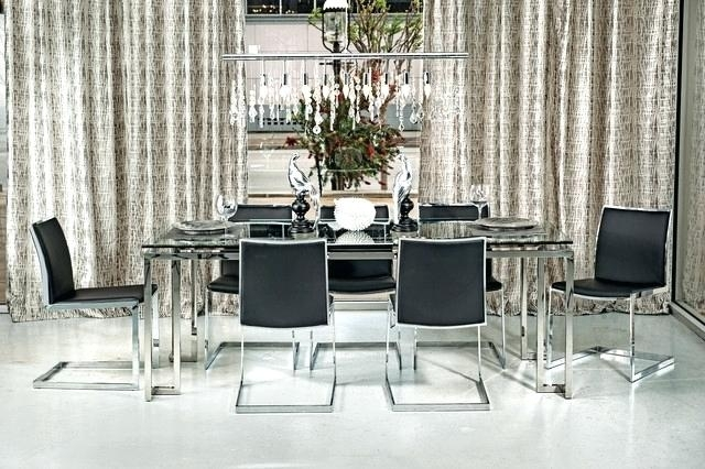 Chrome Dining Table And Chairs Black Chrome Dining Table Chairs Intended For Chrome Dining Tables And Chairs (Image 6 of 25)