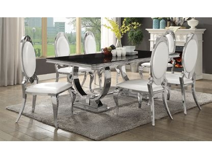 Chrome Kitchen Table Home And Furniture | Thejobheadquarters 50's With Regard To Chrome Dining Tables (Image 4 of 25)