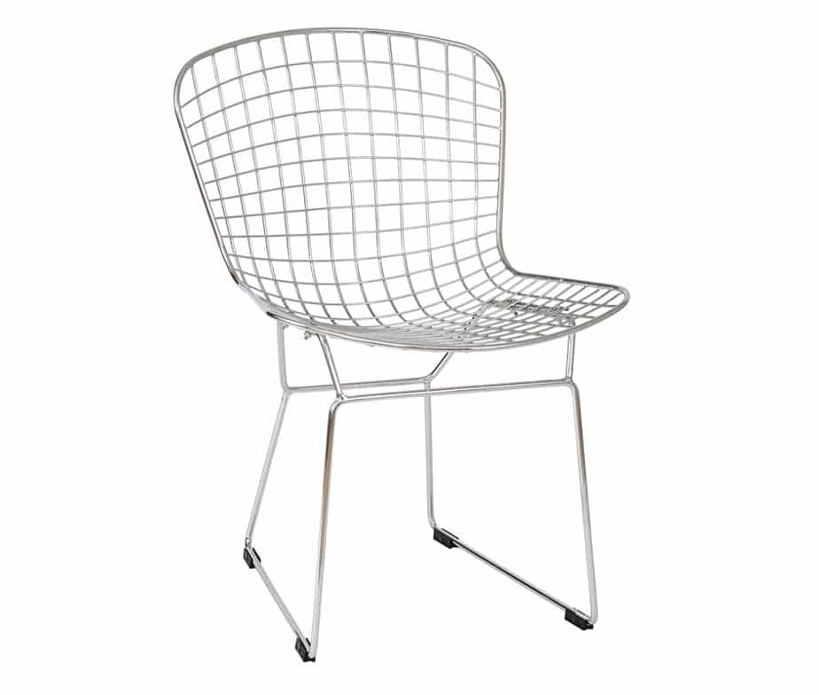 Chrome Mesh Dining Chair With Sled Legswarner Contracts Within Chrome Dining Chairs (Image 6 of 25)