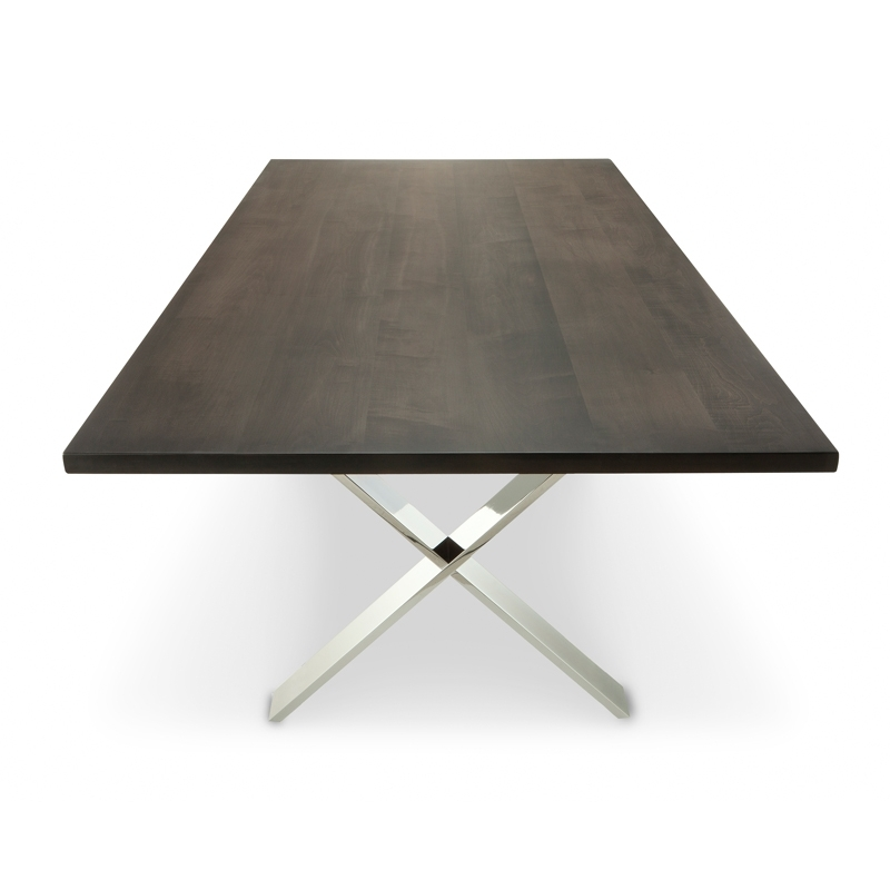 Chrome X Dining Table | Solid Wood Table | Woodcraft Intended For Chrome Dining Sets (View 8 of 25)