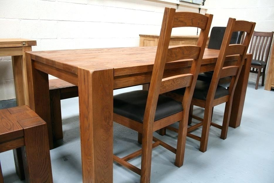 Chunky Dining Room Table Alluring Oak Furniture Dining Table Oak For Oak Furniture Dining Sets (View 7 of 25)