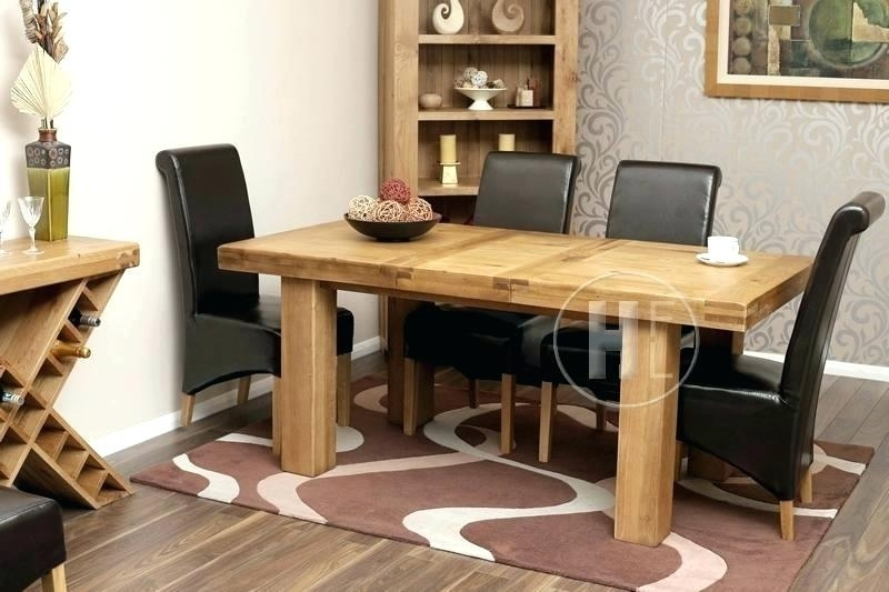 Chunky Oak Dining Tables Uk Table And Chairs Solid 4 Creative Regarding Chunky Solid Oak Dining Tables And 6 Chairs (Image 6 of 25)