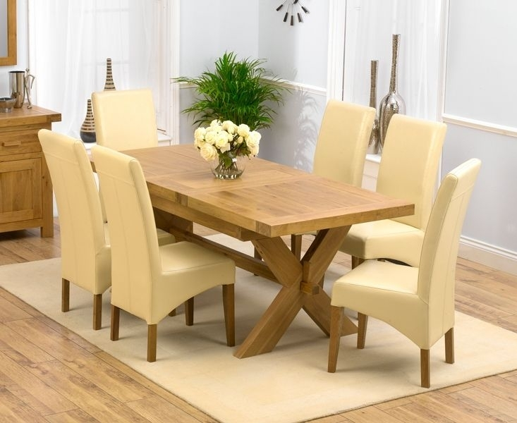Chunky Solid Oak Dining Table And 6 Chairs – Go To Pertaining To Oak Dining Set 6 Chairs (Image 6 of 25)