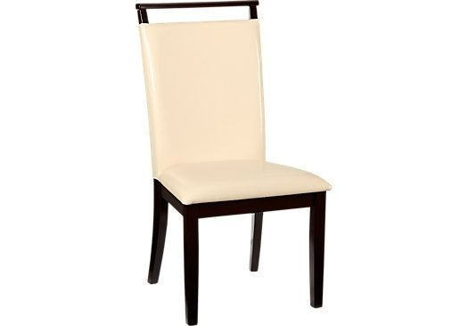 Ciara Cream Side Chair | Side Chair, Leather Fabric And Dining Chairs Intended For Caira Black 7 Piece Dining Sets With Upholstered Side Chairs (Image 6 of 25)