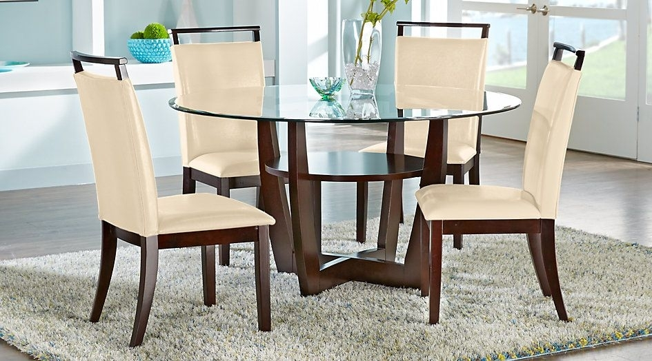 Ciara Espresso 5 Pc Dining Set | House – Breakfast Room | Pinterest For Caira Black Round Dining Tables (Image 12 of 25)