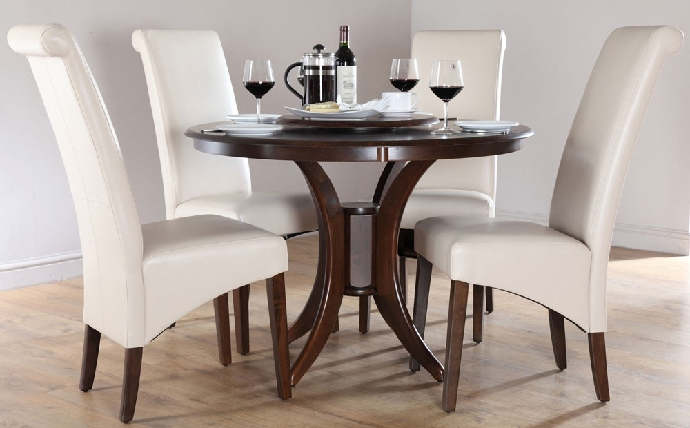 Ciara Espresso 54 Round Dining Table Tables Dark Wood Throughout In Caira Black Round Dining Tables (View 15 of 25)
