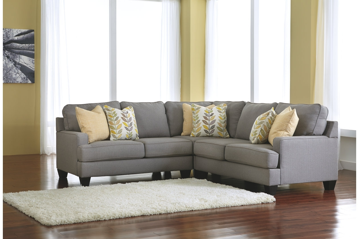 Cindy Crawford Home Calvin Heights Indigo 2 Pc Sectional Regarding Sierra Down 3 Piece Sectionals With Laf Chaise (Image 6 of 25)
