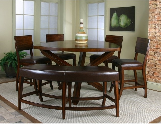 Cindy Crawford Home Highland Park Ebony 5 Pc Counter Height Dining Pertaining To Crawford 6 Piece Rectangle Dining Sets (Image 10 of 25)