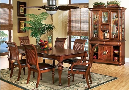 Cindy Crawford Home Key West Tobacco 5 Pc Rectangle Dining Room With In Crawford 7 Piece Rectangle Dining Sets (View 8 of 25)