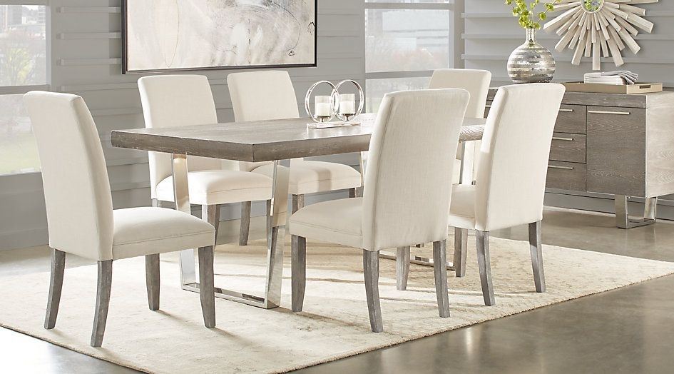 Cindy Crawford Home San Francisco Gray 5 Pc Dining Room | Pinterest Throughout Crawford 7 Piece Rectangle Dining Sets (View 9 of 25)