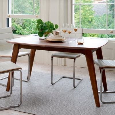 Circa Compact Extending Rectangular 4 6 Seater Dining Table – Dwell Inside Extending Rectangular Dining Tables (Image 5 of 25)