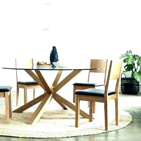 Circle Dining Table Oak Circle Dining Table Circle Dining Table And With Circular Dining Tables For  (Image 4 of 25)