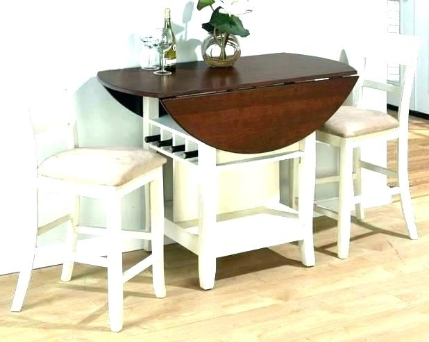 Circle Dining Table Set Half Best Within Round Moon Glass For Half Moon Dining Table Sets (Image 4 of 25)