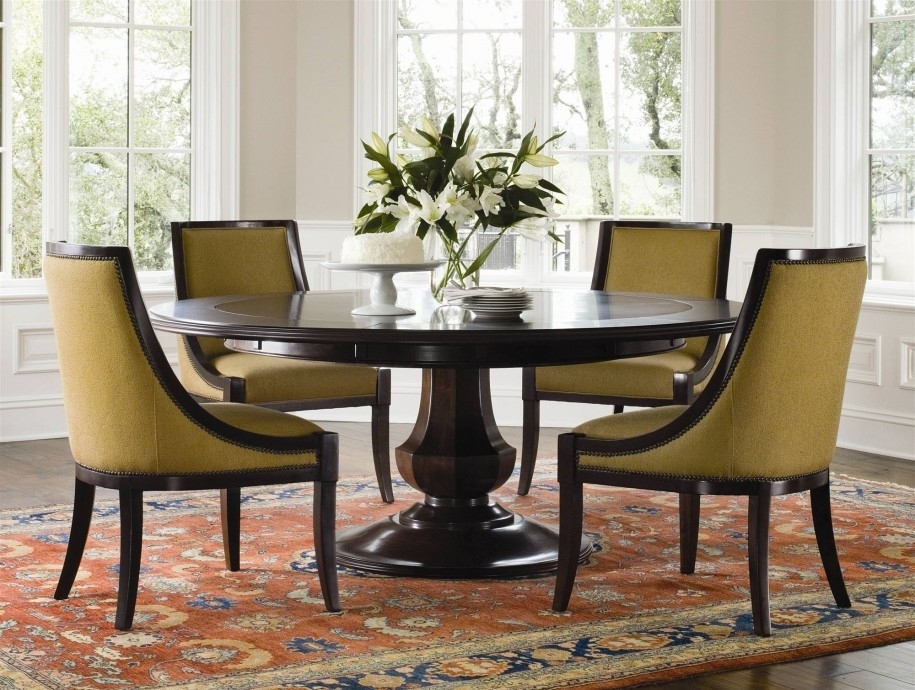 Circular Dining Room Decor Ideas — Bluehawkboosters Home Design With Cheap Round Dining Tables (Image 4 of 25)