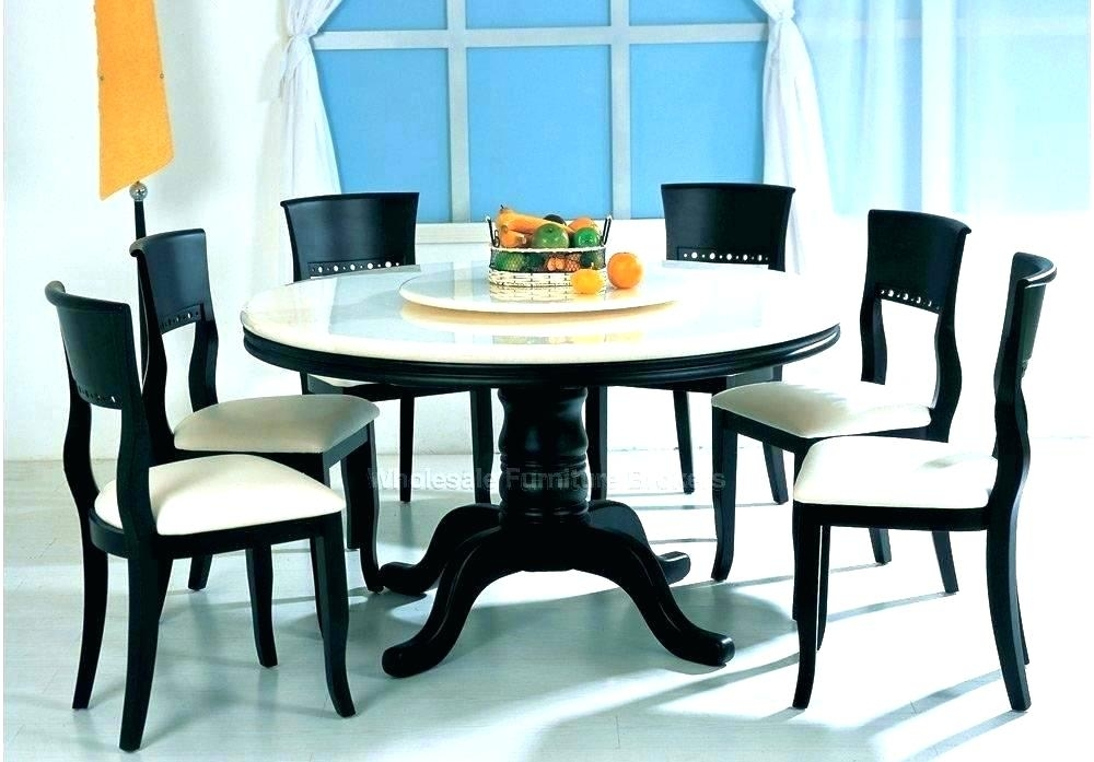 Circular Dining Table For 6 Modern Round Dining Table Round Dining For 6 Seater Round Dining Tables (Image 8 of 25)